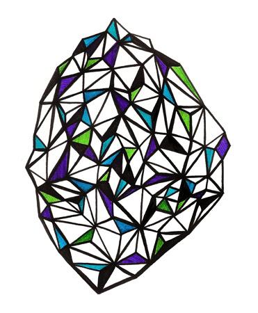 triangle iceberg doodle