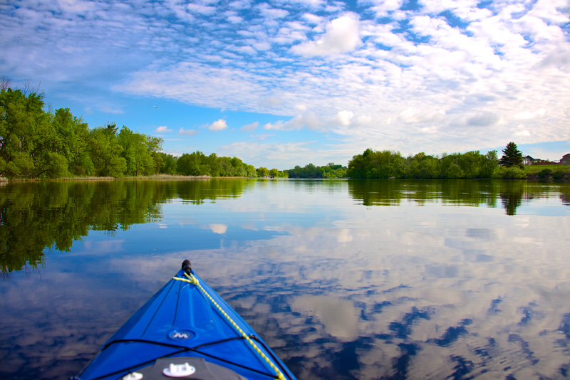 kayak river refleciton