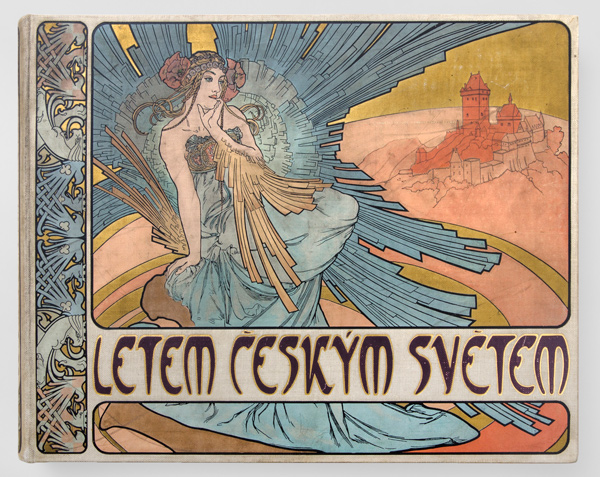 Mucha,-Cover-for-a-book,-Quickly-Through-the-Czech-World,-1898