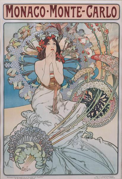 Mucha,-Monaco-Monte-Carlo,-1897,-lithograph